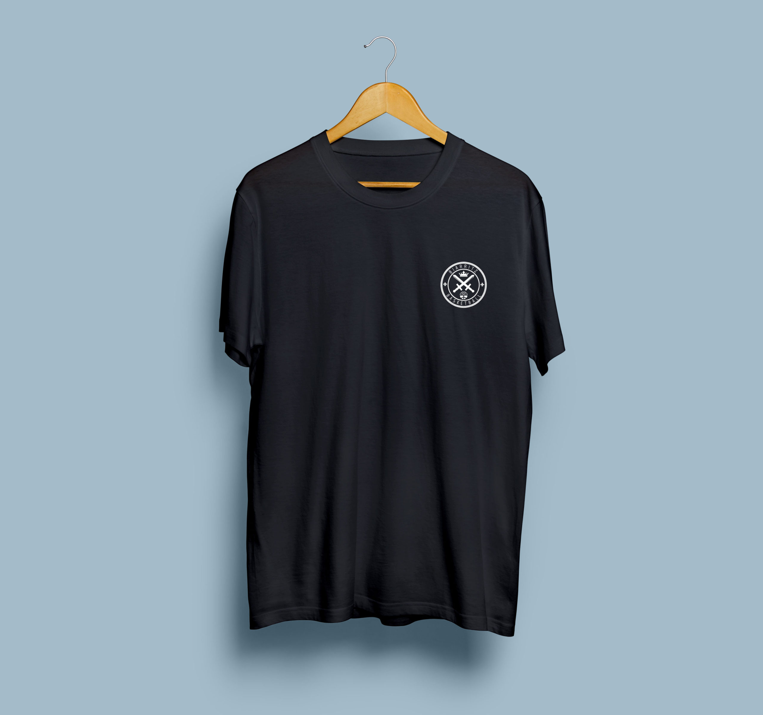 T-Shirt Mock-Up Frontblack