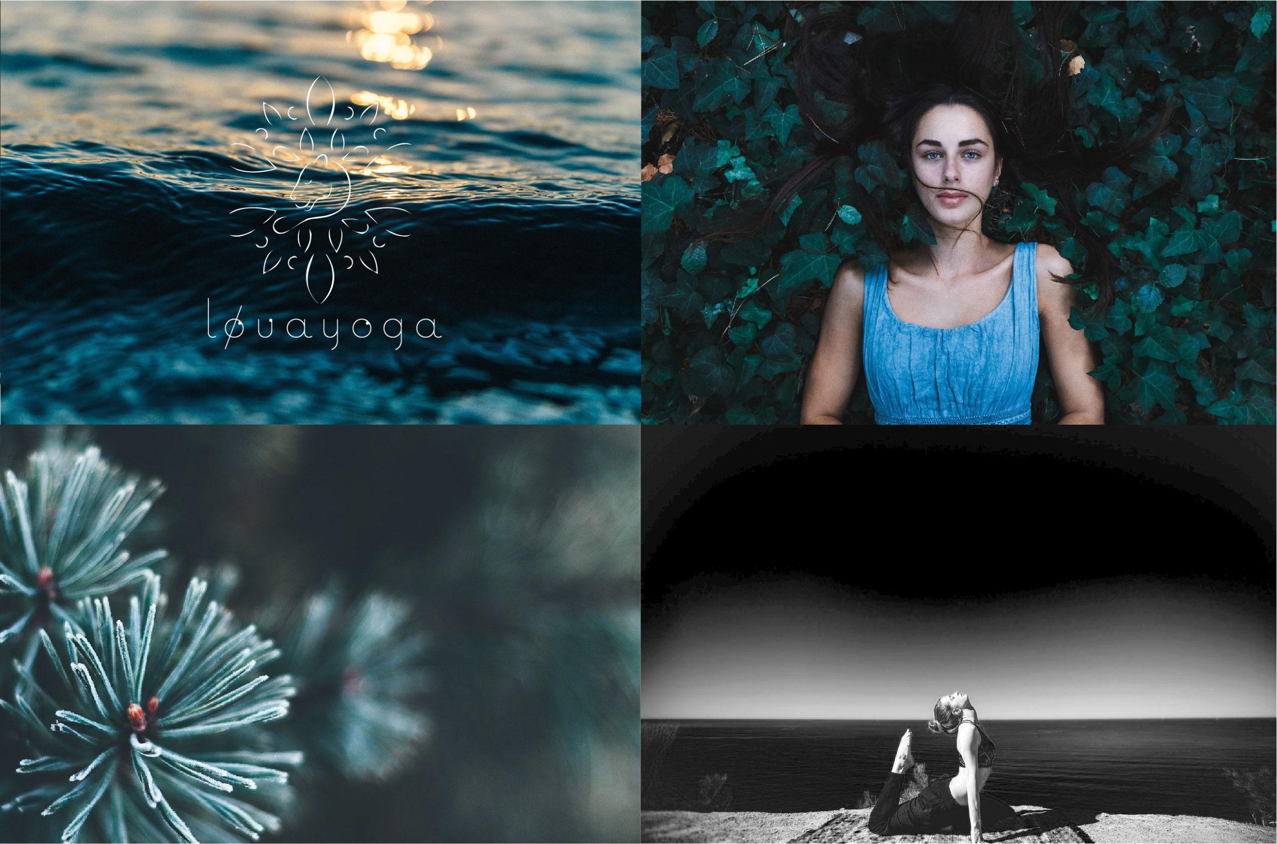 création identité visuelle pour professeur yoga julien guichard digital pays basque